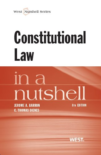 Constitutional Law in a Nutshell:   2013 edition cover