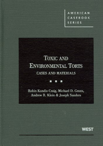 Toxic and Environmental Torts Cases and Materials N/A edition cover