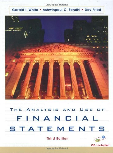 Analysis and Use of Financial Statements  3rd 2003 (Revised) edition cover
