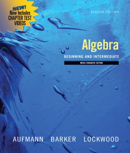 Algebra Beginning and Intermediate 2nd 2010 9780547197944 Front Cover