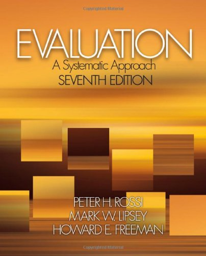 Evaluation A Systematic Approach 7th 2004 (Revised) edition cover