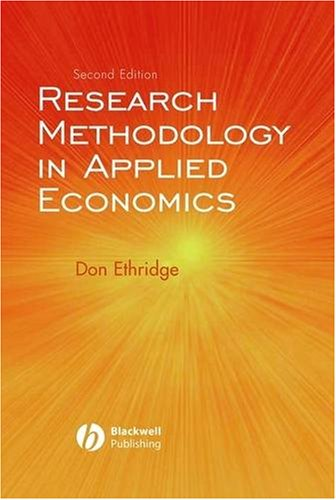 Research Methodology in Applied Economics  2nd 2004 (Revised) edition cover