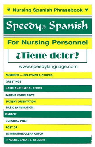 Speedy Spanish for Nursing Personnel N/A edition cover
