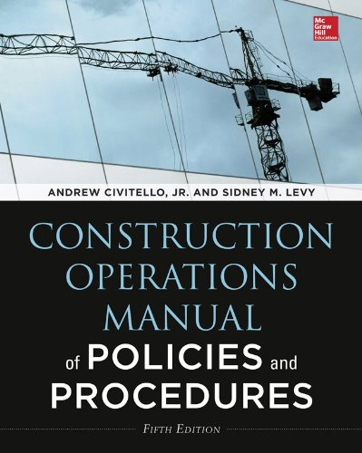 Construction Operations Manual of Policies and Procedures:   2014 edition cover