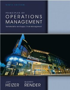 Principles of Operations Management + Student Cd:   2013 edition cover