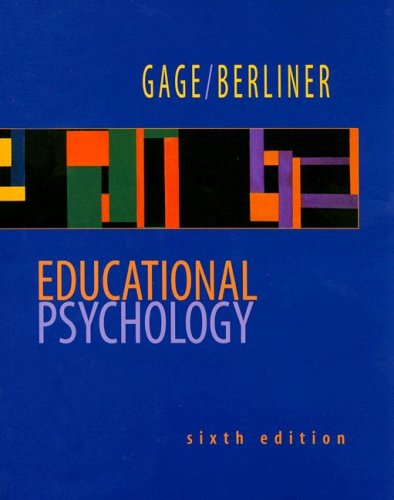 Educational Psychology 6th 1998 edition cover