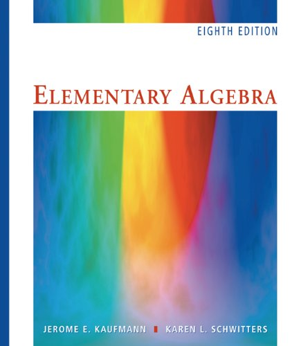 Elementary Algebra  8th 2007 9780495109945 Front Cover