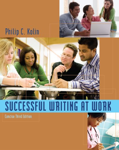 Successful Writing at Work Concise Edition 3rd 2012 edition cover