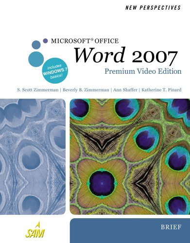 New Perspectives on Microsoft Office Word 2007, Brief, Premium Video Edition   2011 9780538475945 Front Cover