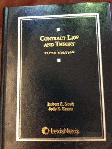 Contract Law and Theory:   2013 edition cover