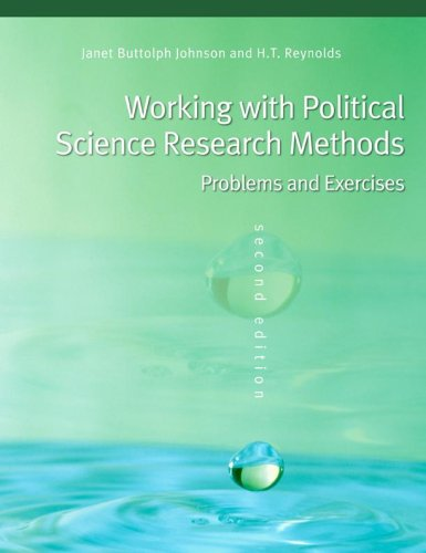 Working with Political Science Research Methods Problems and Exercises 2nd 2006 (Revised) edition cover