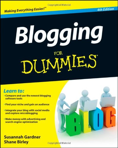 Blogging for Dummies  4th 2012 edition cover