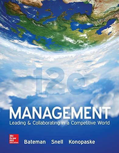 MANAGEMENT 12th 9781259546945 Front Cover