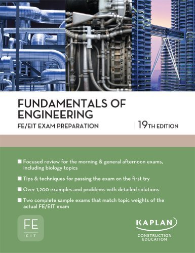 Fundamentals of Engineering FE/EIT Exam Preparation 19th edition cover