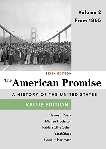 The American Promise: From 1865; Value Edition  2014 edition cover