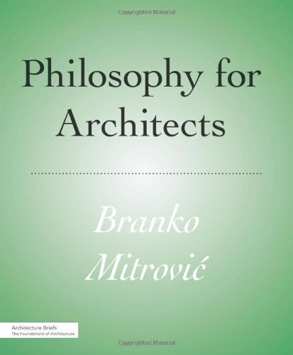 Philosophy for Architects   2011 edition cover