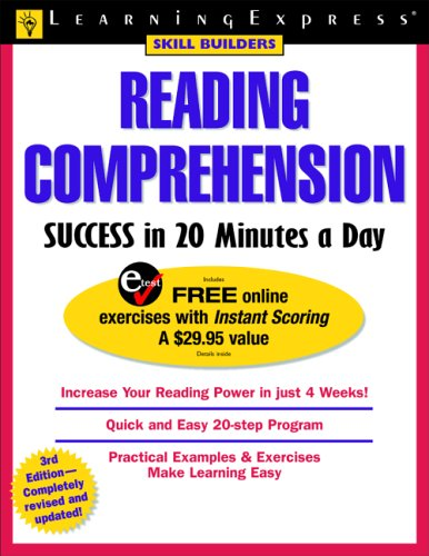 Reading Comprehension Success in 20 Minutes a Day 3rd 2005 edition cover