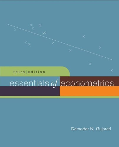Essentials of Econometrics + Data CD  3rd 2006 (Revised) edition cover