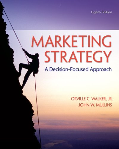 Marketing Strategy: a Decision-Focused Approach  8th 2014 9780078028946 Front Cover