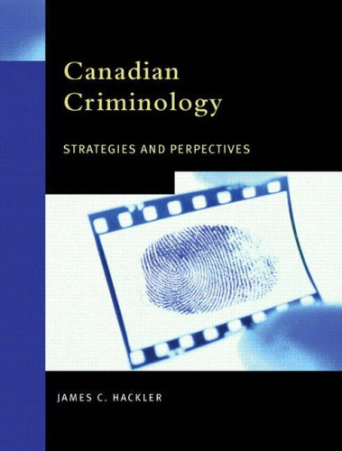 CANADIAN CRIMINOLOGY >CANADIAN 3rd 2003 edition cover