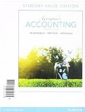 Horngren's Accounting, Student Value Edition Plus MyAccountingLab with Pearson EText -- Access Card Package  11th 2016 edition cover