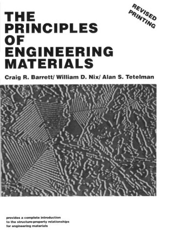 Principles of Engineering Materials  1st 1973 edition cover