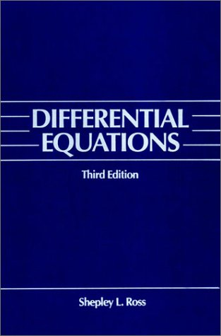 Differential Equations  3rd 1984 (Revised) edition cover