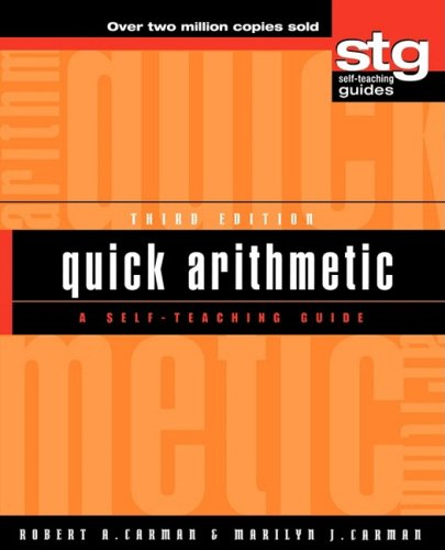 Quick Arithmetic A Self-Teaching Guide 3rd 2001 (Revised) edition cover