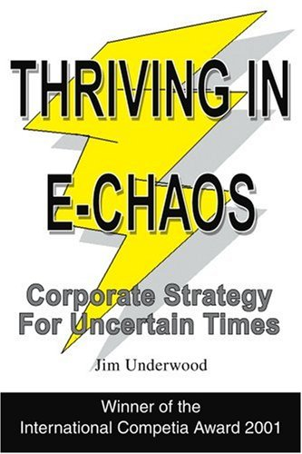 Thriving in E-Chaos Corporate Strategy for Uncertain Times  2002 edition cover
