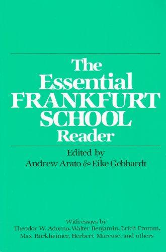 Essential Frankfurt School Reader  N/A edition cover