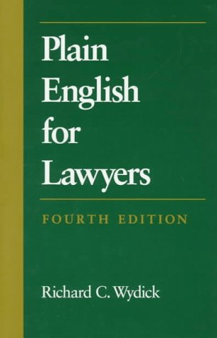 Plain English for Lawyers 4th 1998 edition cover