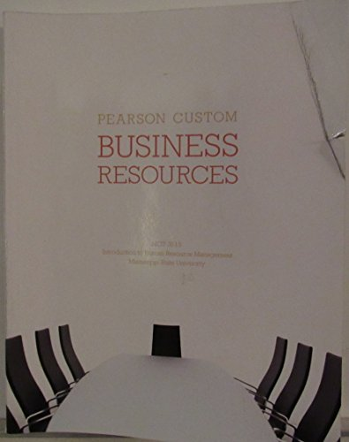 BUSINESS RESOURCES-MGT 3513 >CUSTOM<    N/A 9781269241946 Front Cover
