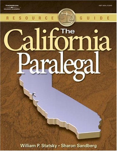 California Paralegal   2008 edition cover