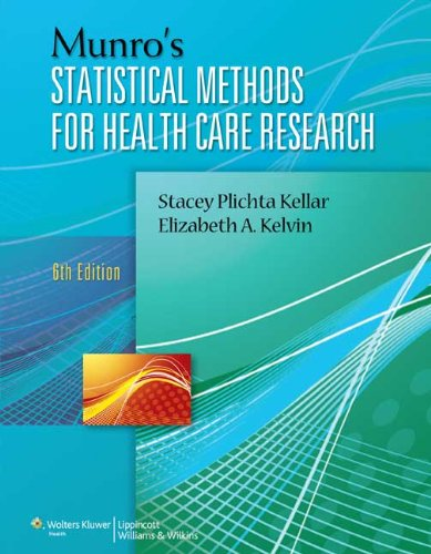 Munro's Statistical Methods for Health Care Research  6th 2013 (Revised) edition cover