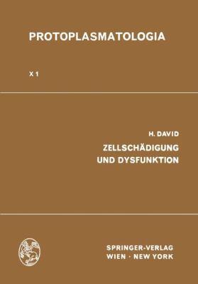 Zellschadigung und Dysfunktion   1970 9783709154946 Front Cover
