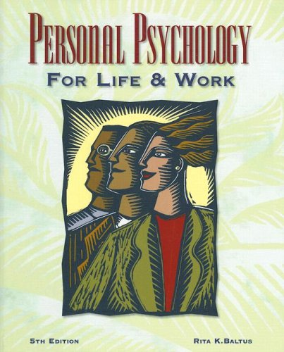 Personal Psychology for Life and Work  5th 2000 edition cover