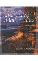 Investigating Basic College Mathematics   2003 9780030344947 Front Cover