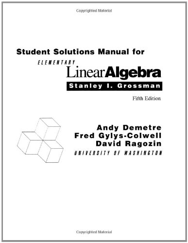 Elementary Linear Algebra  5th 1994 9780030948947 Front Cover