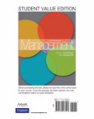 Management, Student Value Edition  11th 2012 9780132538947 Front Cover