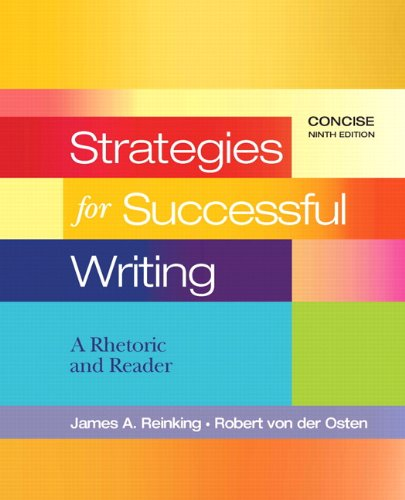 Strategies for Successful Writing, Concise  9th 2011 9780205801947 Front Cover