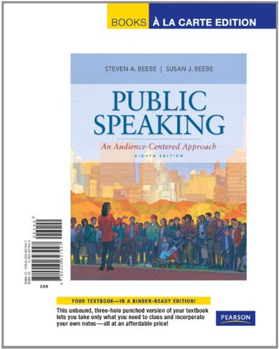 Public Speaking An Audience-Centered Approach, Books a la Carte Edition 8th 2012 edition cover