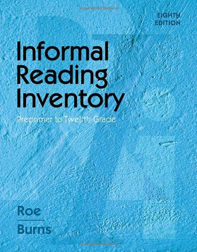 Informal Reading Inventory Preprimer to Twelfth Grade 8th 2011 edition cover