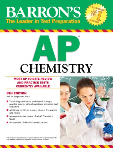 Barron's AP Chemistry, 6th Edition  6th 2012 (Revised) edition cover