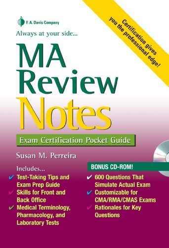 MA Review Notes Exam Certification Pocket Guide  2009 edition cover