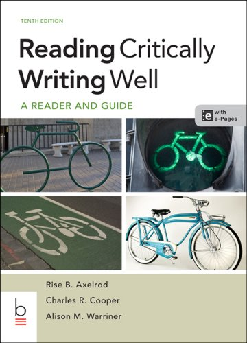 Reading Critically, Writing Well:   2013 edition cover