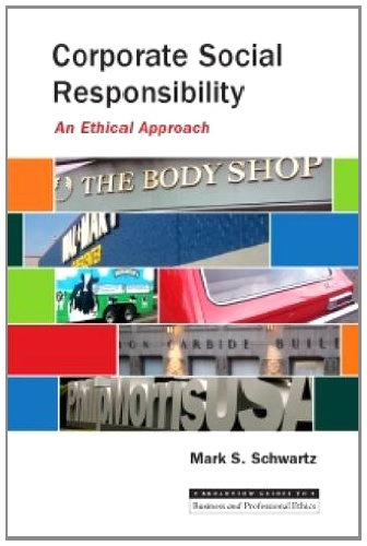 Corporate Social Responsibility An Ethical Approach  2011 edition cover