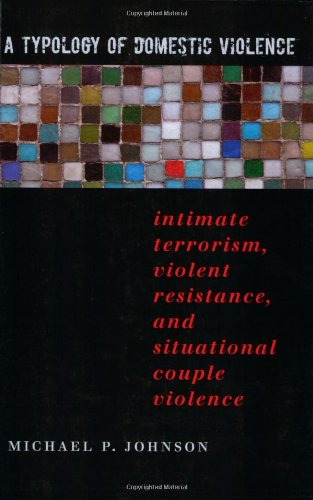 Typology of Domestic Violence Intimate Terrorism, Violent Resistance, and Situational Couple Violence  2008 edition cover