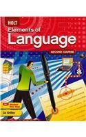 Holt Elements of Language, Grade 8 2009   2009 9780030941948 Front Cover