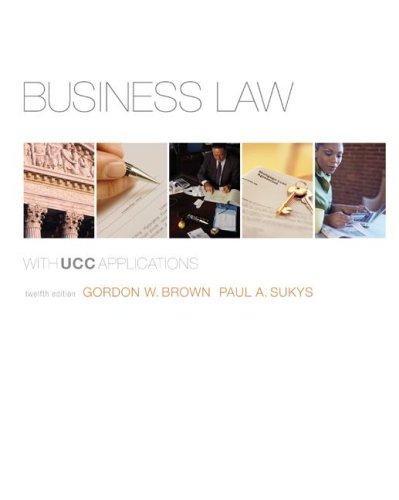 Business Law  12th 2009 (Student Manual, Study Guide, etc.) edition cover