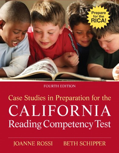 Case Studies in Preparation for the California Reading Competency Test  4th 2012 edition cover